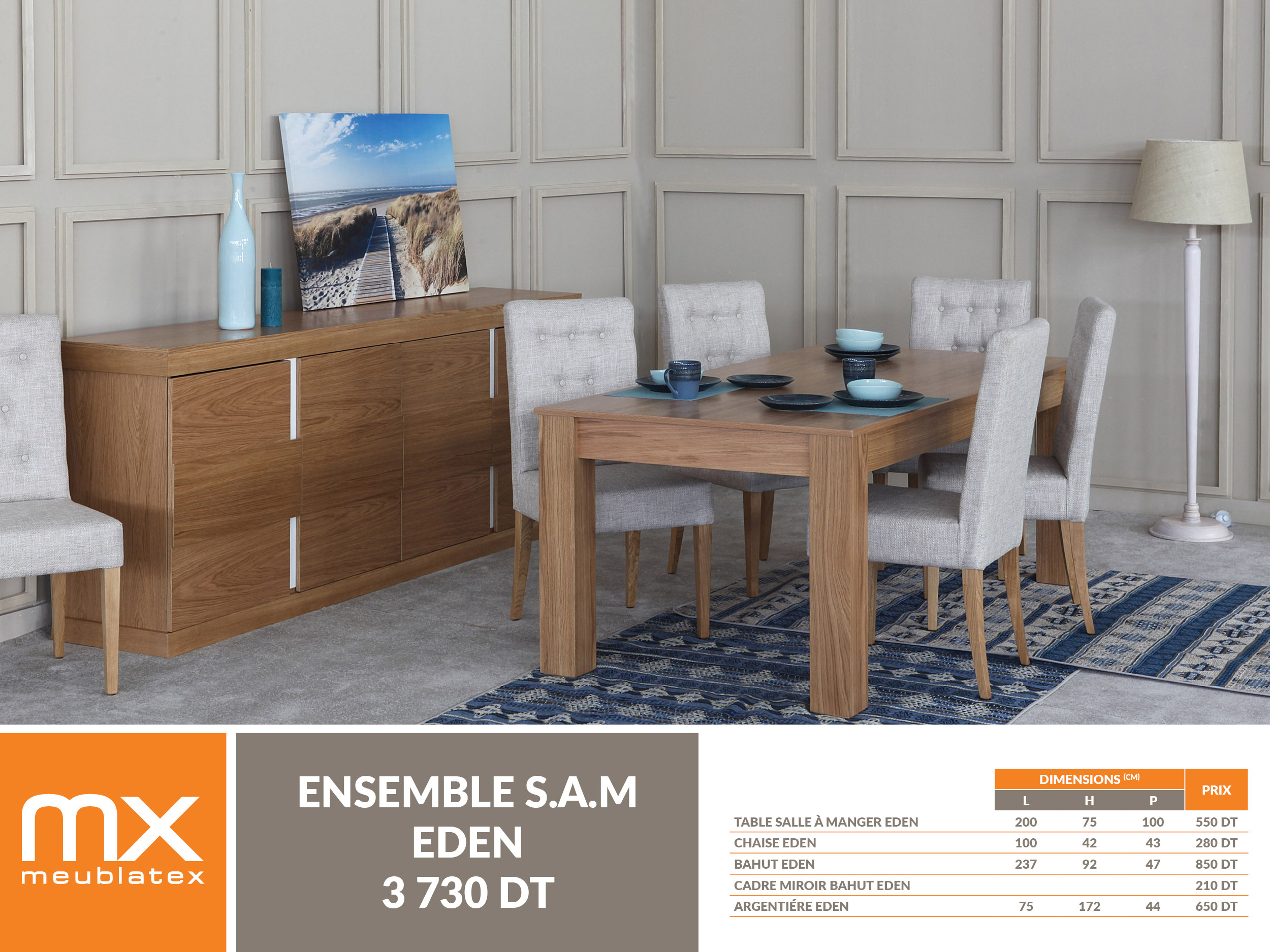 Sam eden meublatex for Salle a manger tunisie