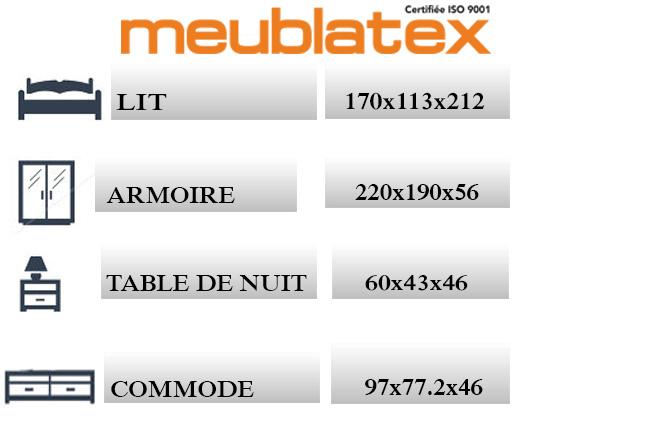 Treccia meublatex for Chambre technique