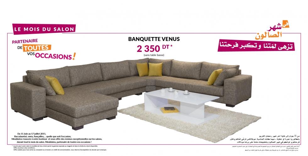Visuel Bannière _ Banquette Venus